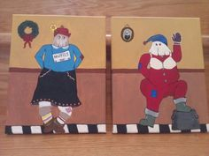 Margie and Jake -NL Mummers Applique Patterns, Quilt Patterns, Food Ideas, Decor Ideas, Newfoundland And Labrador, Throw Pillow Cases, Types Of Art, Pebble Art, Rug Hooking