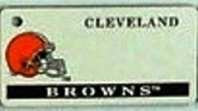 """This is an NFL Cleveland Browns Team License Plate Key Chain or Tag. An excellent and affordable gift for an avid NFL fan! The key chain is available with engraving or without engraving. It is a standard key chain made of durable plastic and size is approximately 1.13"""" x 2.25"""" and 1/16"""" thick."""