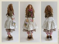 Купить Цветы Прованса 4 - кремовый, тильда кукла, бохо стиль, прованс, лаванда
