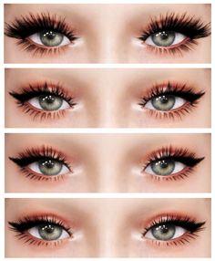 The Sims 4 najlepsze mody do gry: 3 D L a s h e s od Dreamgirl Mods Sims 4, Sims 4 Mods Clothes, Sims 4 Clothing, Perfect Eyelashes, Fake Eyelashes, Vaseline Eyelashes, Eyelashes Drawing, Longer Eyelashes, Magnetic Eyelashes