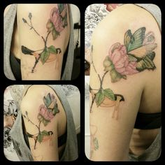 Design from Delphine Vaute'art. Done at The Tattooed Lady, montreuil, france. mylooz.tatouage@gmail.com