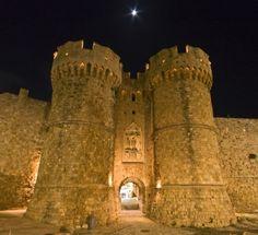 St John Knights Castle at Rhodes Island, Greece  #greece #travel #vacation