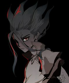 Manga Art, Manga Anime, Anime Art, Fanarts Anime, Anime Characters, Gorillaz, Science Fiction, Stone Wallpaper, Stone World