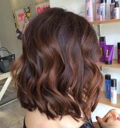Brown Bob With Subtle Caramel Balayage