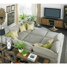 Big sofa oder wohnlandschaft  Dreams4Home Polsterecke U-Form Mike, XXL Big Sofa Ecksofa Couch ...
