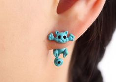 Hot Trending Hanging Cat Through the Ear Style Earrings