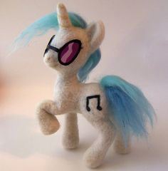 Vinyl Scratch Needle Felted Posable Plush by ~SnowFox102 on deviantART