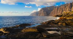 The cliffs at Los Gigantes, from The natural pool at Crab Island. Tenerife. Canary Islands. by Thomas Tolkien, via Flickr
