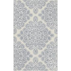 Candice Olson Rug (foggy blue, peach cream, bone, and tan)