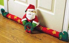 Bucilla Santa Door Draft Felt Christmas Home Decor Kit 86114 Stars Wreath Christmas Sewing, Christmas Love, Christmas Projects, Christmas Holidays, Nativity Ornaments, Felt Christmas Ornaments, Christmas Decorations, 242, Christmas Traditions
