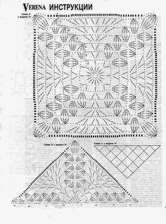 DODA CROCHET: Bello e facile !!! Scialle all'uncinetto - Crochet shawl