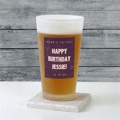 Make her birthday truly special with a personalized custom message frosted pint glass Birthday Mug, Birthday Gift For Him, Special Birthday, Craft Beer Glasses, Thoughtful Gifts For Her, Personalised Gifts For Him, Beer Lovers, Pint Glass, Candle Jars