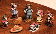 7 Ganz Christmas Cowtown Ornaments & Figurines Collectible Perfect Condition NIB by RebornToAdorn on Etsy