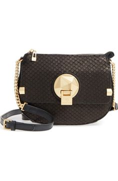 543d172204eb Céline Dion Octave Leather Crossbody Bag