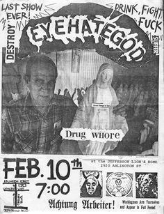 Eyehategod flyer for last show ever