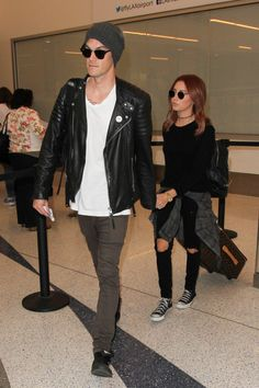 Ashley Tisdale Photos: Ashley Tisdale and Christopher French Arrive at the Airport