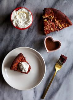 Flourless Red Velvet Marble Cake Recipe!