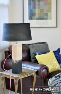 How to make a {DIY Salvaged Wood Lamp} for {Homemade Rustic-Chic Decor!}