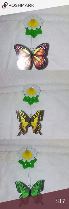 ButterFly Battery Operated Kitten/Cat Teaser Toy You are Viewing 1 Brand NewFun Kitten Cat Toyhigh-quality playing toy. The Base MeasuresApprox 3 inches By 3 inches andStands 2 inches tall from top of theflower to the base, the ButterflyMeasuresApprox from the top of wings to bottom ofwings 2-1/2 inches and is thin. The wire isApprox 8 inches long and thin. Mounting baseto FlowerMeasuresApprox 1-7/16th of an inch Round.Kittens or Cat spendingboring time at home lonely, Kittens…
