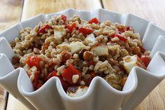 Warm Roasted Chickpea, Halloumi and Farro Salad