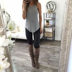 love the shape and flow of the top. not a huge fan of the height of the boots.. im not tall enough for something that takes up that much of my leg Leggings - http://amzn.to/2id971l