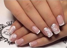 False nails have the advantage of offering a manicure worthy of the most advanced backstage and to hold longer than a simple nail polish. The problem is how to remove them without damaging your nails. Cute Nails, Pretty Nails, My Nails, Nails 2017, Long Nails, Wedding Nails Design, Wedding Designs, Wedding Nails Art, Bridal Nails Designs