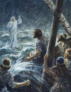 """My Treasure Box"" : BIBLE STORY SUMMARY: JESUS WALKS ON WATER"