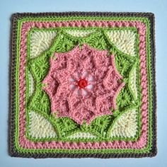 Sun Catcher Afghan Square - Ravelry free pattern 2015