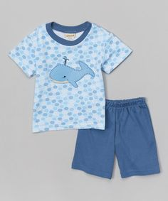 Loving this Blue Whale Tee & Shorts - Infant on #zulily! #zulilyfinds