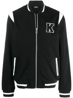 Karl Lagerfeld K Patch Jacket - Farfetch Karl Lagerfeld Men, Black And White Colour, Parisian Style, Custom Clothes, Size Clothing, Street Wear, Women Wear, Casual, Jackets
