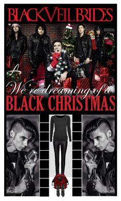 """BLACK VEIL BRIDES - BVB - CHRISTMAS!"" by irresistible-livingdeadgirl ❤ liked on Polyvore featuring Oris, Zoe Karssen, Alexander McQueen, Yves Saint Laurent, AlexanderMcQueen, BVB, BLACKVEILBRIDES, saintlaurent, andybiersack and emo"