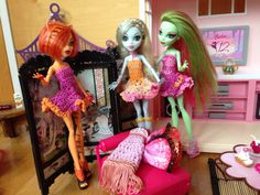 Monster High Doll Clothes, Crochet Dress, Spring Colors