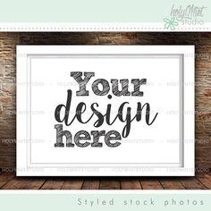 Frame Mockup by www.HolyMintStudio.Etsy.com Pixel Size, Editing Skills, Empty Frames, Insert Image, Get Reading, Simple Pictures, Mockup, Your Design, Shapes