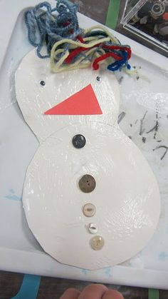 Foam Snow People -  Pinned by @PediaStaff – Please Visit http://ht.ly/63sNt for all our pediatric therapy pins