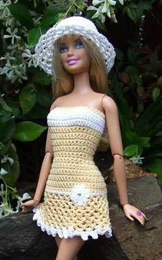 Resultado de imagem para crochet barbie doll clothes for beginners