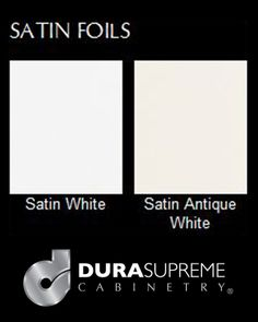 Options for #Satin #Foil #Cabinets - Satin #Foils from Dura Supreme #Cabinetry