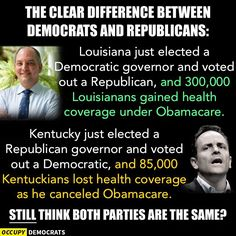 If you think there's no difference between Republicans and Democrats, I wouldn't bet your life (or health) on it if I were you.