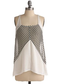 Striped and sheer, this tank top is insanely easy to wear and a great layering piece.  Maritime Adventure tank on Modcloth, $32.99.