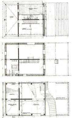 plans of architecture herzog de meuron house 1982 Technical Schools, Architecture Plan, Italy Architecture, House Drawing, Stone Houses, House Floor Plans, New Construction, Madrid, How To Plan