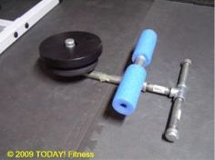 How to Make a Shin Blaster - I think I posted this before on here, not too sure. Commercial Fitness Equipment, Home Gym Equipment, No Equipment Workout, Home Made Gym, Diy Home Gym, Living Room Workout, Martial Arts Equipment, Ab Day, Warrior Workout