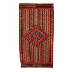 Antique Saltillo Serape Textile 1