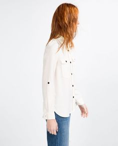Image 5 of ARMY SHIRT WITH TAB from Zara