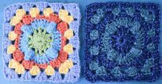 Bright Popcorn Crochet Granny Square༺✿ƬⱤღ http://www.pinterest.com/teretegui/✿༻