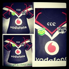 Nz warriors cake. Nz warriors junior home jersey