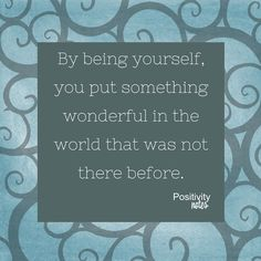 A thought on being authentic #positivity