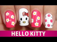 ▶ Unhas Decoradas da Hello Kitty - YouTube
