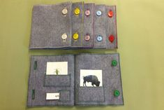 Montessori Nienhuis Classified Card felt pouches hand made to your colour coding.