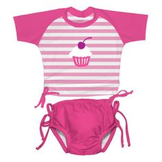 UPF 50 swimwear for my daughter Chloe.    I like that it has an extra level of protection from the sun, and still is very cute!