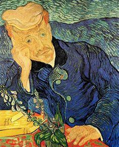Vincent van Gogh, Dr. Paul Gachet, 1890 Your Paintings, Painting Techniques, Art Tutorials, Illusions, Paint Techniques, Painting Techniques Canvas