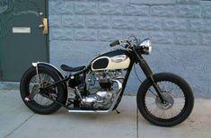 Triumph Bonneville Bobber | Loudpop Voyager - 1968 Triumph Bonneville Bobber via bikermetric